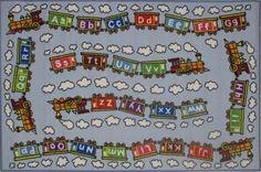 Fun Rugs FT-96 3958 Fun Time Collection Edu Train Multi-Color - 39 x 58 in.