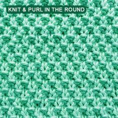 Easy Knit & Purl in the round. Double Moss Stitch - Same pattern on both sides