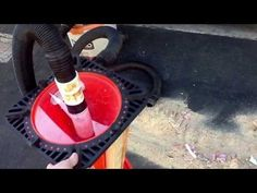 Home make street cone in cyclone dust control