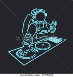 Electronic Music, Google Images, Dj, Darth Vader, Neon, Illustration, Fictional Characters, City, Neon Tetra