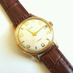 003ccc2bad4 Vintage Elgin Date Wrist Watch. Mechanical HandVintage WatchesAntique  Watches