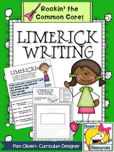 Limerick Writing- FREE!  Teachers slides, limerick examples, limerick student template.  Everything you need to teach limericks!