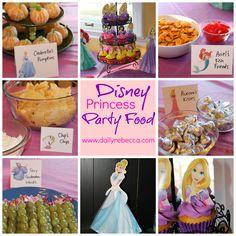 Disney Princess themed party snacks for a toddler birthday!