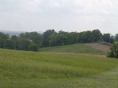 Perryville Battlefield.  Looking generally south, from the eastern edge of the cornfield. The Benton Road is on your right, with Starkweather Heights off the picture immediately to the right. The Benton Road bends to the southwest just at the edge of the picture. The higher ground here was held by the 79th PA, and elements of Webster's and Harris's Union Brigades. This area was the lynchpin of the Union defense, and saved a complete rout.