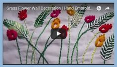 Hand Embroidery stitch. All sorts of unusual hand embroidery stitches with video tutorials.