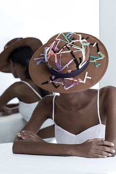Handmade hats of a Brazilian label right out of wonderland. Magic Hat, Embroidered Hats, Ethical Fashion, Cowboy Hats, Product Launch, Female, Clothes For Women, Elegant, Chic