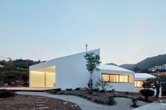 Four angular white volumes form house in Mallorca by Oliver Hernaiz Architecture Lab Architecture Design, World Architecture Festival, Cabinet D Architecture, Minimalist Architecture, Architecture Awards, Hot House, Passive House, Spanish House, Eco Friendly House