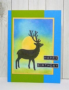 amuse studio, masculine birthday card