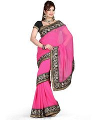 Pink Color Chiffon Function & Party Wear Sarees : Aditri Collection  YF-41434