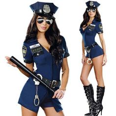 2017 Sexy Police Officer Costume Uniform Halloween Adult Sex Cop Cosplay Slim Dress For Women,Cop Police Costume Plue Size M XL Police Officer Halloween, Police Halloween Costumes, Police Officer Costume, Halloween Party Kostüm, Halloween Fancy Dress, Ms Officer, Women Halloween, Halloween 2017, Halloween Cosplay