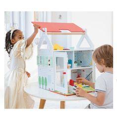Grande maison en bois lumineuse Imagibul création Oxybul Kids Furniture, Toddler Bed, Maya, Parents, Home Decor, Wooden Dollhouse, Large Homes, Furniture For Kids, Child Bed