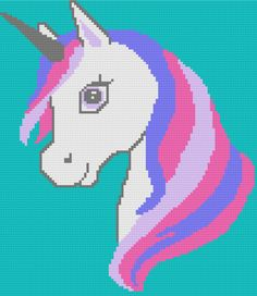 Graph Crochet, C2c Crochet, Manta Crochet, Crochet Unicorn, Unicorn Pattern, Pink Rose Pictures, Hello Kitty Crochet, Mermaid Crafts, Unicorns And Mermaids