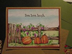 Live Love Laugh Watercolor Pumpkin and by DreanasDragonflyPie, $4.00