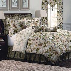 Williamsburg Garden Image 4-pc. Reversible Comforter Set, Beig/Green (Beig/Khaki)