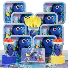 Check out Looking for Finding Dory Deluxe Birthday Party Tableware Kit (Serves 8) for your next party? Find Birthday in a Box for the latest themed tableware and party ideas at bargain prices. from Birthday In A Box