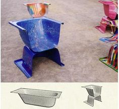 recycled bathtubs - chairs  This month, all tubs are 25% off!