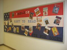 A new election/vote bulletin board I created for the library.  Library bulletin board.