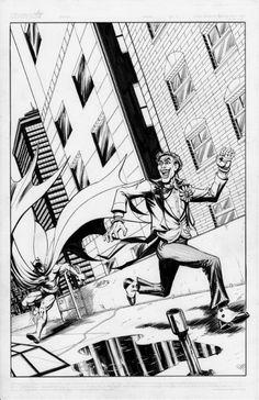 Batman / Joker Chase by Mitch Ballard