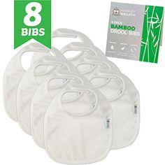 bamboo terry drool bibs waterproof 8piece set for baby by wonderful walrus natural simple classic 2