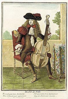 Nicolas Bonnart (1637 - 1717)   Recueil des modes de la cour de France, 'Habit de Ville', circa 1664-1675