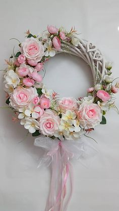 Dried Flowers, Paper Flowers, Willow Wreath, Shabby Chic Homes, Door Wreaths, Spring Wedding, Flower Decorations, Are You Happy, Flower Arrangements