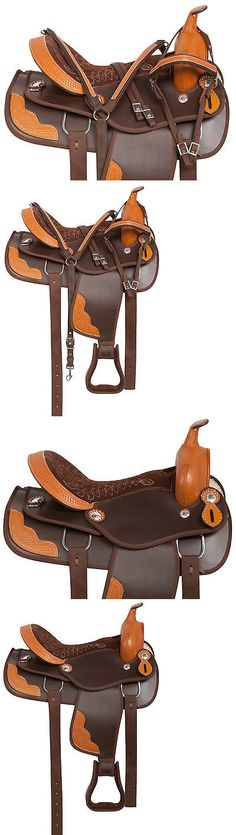 Saddles 47291: 17 18 Western Brown Synthetic Western Pleasure Trail Horse Saddle Tack New -> BUY IT NOW ONLY: $189.99 on eBay!