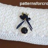 Free crochet pattern clutch bag