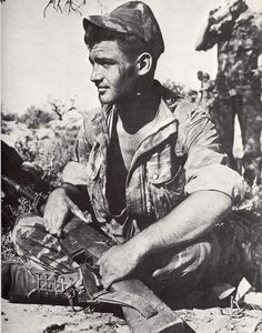 French commando (navy) with a MAS49/56 in the djebel.