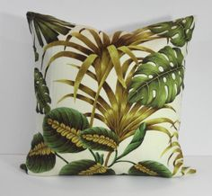 Tropical Pillow Cover Cushion, Throw Pillow, Decorative Pillow Cover,Palms, Leaf, 20 x 20