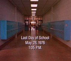 last day of school, school, Dazed and confused Movies Showing, Movies And Tv Shows, Wisconsin, Last Day Of School, School School, Coming Of Age, Film Stills, Aesthetic Vintage, Movie Quotes