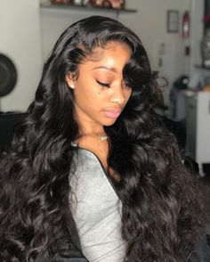Wigbaba Best Wigbaba Best Lace Frontal Wigs Lace Closure Wig - Informations About Wigbaba Best Wigbaba Best Lace Frontal Wigs Lace Closure Wig Pin You can eas - 100 Human Hair Wigs, Body Wave Hair, Hair Laid, Silky Hair, Weave Hairstyles, Black Hairstyles, Frontal Hairstyles, American Hairstyles, Human Hair Extensions