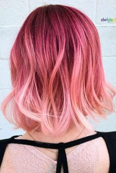 Soft Pink Waves #MermaidHair #HairColor #pinkhair #ombrehair