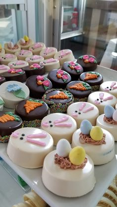 Walk-ins welcome. Open - 7 days a week. Easter Cupcakes, Easter Cookies, Salted Caramel Fudge, Salted Caramels, Easter Chocolate, Chocolate Tarts, Chocolate Covered Treats, Delicious Donuts, Oreo Pops