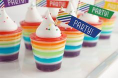 Printable Flags, Rainbow Striped Cupcake Toppers and Straw Flags on Etsy, $3.99