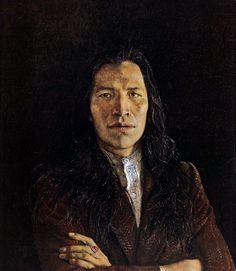 Andrew Wyeth 'Nogeeshik' 1972 tempera on panel~Portrait of an American Indian / Native American. Andrew Wyeth Paintings, Andrew Wyeth Art, Jamie Wyeth, Native American Art, American Artists, American Indians, George W Bush, Nc Wyeth, L'art Du Portrait