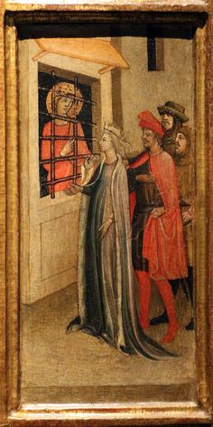 Giovanni del Biondo - Santa Caterina d'Alessandria e storie della sua vita, dettaglio - 1350 circa - Museo dell'Opera del Duomo di Firenze