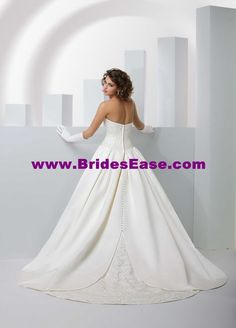 Style T8051 » Wedding Gowns » DaVinci Bridal » Available Colours : Ivory/Silver, Ivory/Ivory, White/Silver, White/White (back)