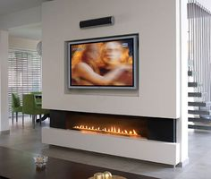 Beautiful Linear Gas Fireplace - Marsh's Stoves & Fireplaces in Toronto ON