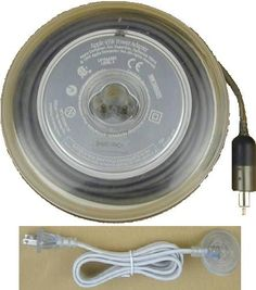 Early PowerBooks came with this yoyo-shaped power supply. You could spool up half of the cord (just like a yo-yo), but for the thicker piece, you're on your own.