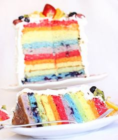 how to make a rainbow cake using FRUIT as the dye instead of food coloring!! really cute ideas here