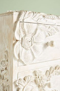 Slide View: Enchantment Three-Drawer Dresser home design Enchantment Three-Drawer Dresser by Anthropologie in White Size: All, Dressers Three Drawer Dresser, Dresser Drawers, Hanging Furniture, Painted Furniture, Refurbished Furniture, Furniture Makeover, Home Furniture, Antique Furniture, Outdoor Furniture