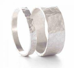 Staen trouwringen zilver goud verlovingsring juweelontwerp