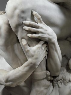 Detail - Jean-Baptiste Carpeaux. Ugolino and His Sons. Modeled ca. 1860–1861, executed in 1865–1867.  Marble.