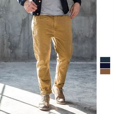 2017 Spring Fashion New Pants Men Cotton Low Elastic Washed Zipper Solid Causal Jogger Pants High-quality Pencil Pants 040-2