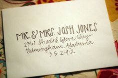 Custom Calligraphy Modern Wedding Envelopes by noteworthyandblue, $1.25
