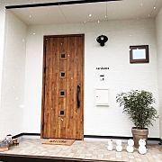 Entrance,照明,カフェ風,ポスト,玄関マット,表札に関連する他の写真