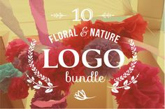 Check out 10 Floral Logos by Marish on Creative Market