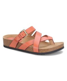 Peach Wrap Brooke Leather Sandal