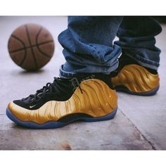 buy popular a41c1 8800c  New  The 10 Best Fashion (with Pictures) - AIR FOAMPOSITE METALLIC GOLD