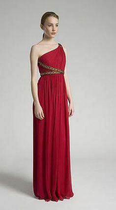vestido tipo romano